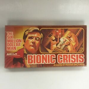 1976 Bionic Crisis Board Game The Six Million Dollar Man Complete Lee Majors $29.95