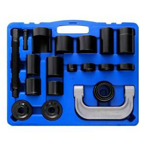 21 Pc Auto Repair Service Removal Ball Joint Press Tool Set Amp Master Adapter Kit
