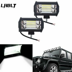 2x 5 Led 12v Pod Work Rv Light Bar Flood Beam Off road Driving Fog Lights