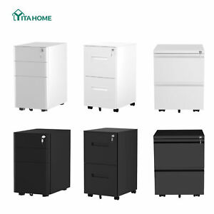 Yitahome 2 3 Drawer Vertical File Cabinet Storage Rolling Locking Office Home