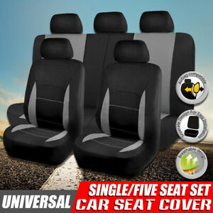 Universal Car Seat Covers Full Set Front Rear Headrests Cover For Suv Van Truck