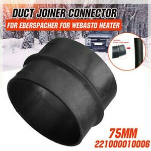For Webasto Heater 75mm Ducting Joiner Connector Pipes Parts For Eberspacher