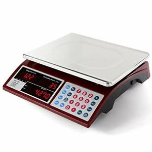 Camry Digital Commercial Price Scale 66lb 30kg For Food Meat Fruit Produce