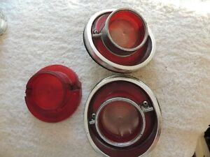 Lot Of Vintage Guide 1 Sae Rb64 Chevy Impala Back Up Tail Light Lens Housing