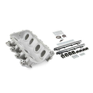 Holley Intake Manifold Base Lo ram Satin Chevy Ls1 Ls2 Ls6