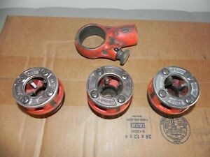 Ridgid 00 r Ratcheting Pipe Threader With 1 2 3 4 3 4 Die Heads No Handle