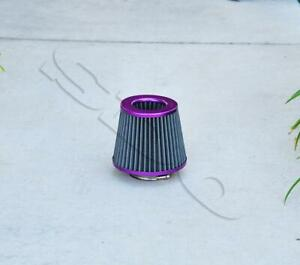 3 76mm Inlet Purple High Flow Mesh Air Intake Cone Filter W 2 5 Adapter