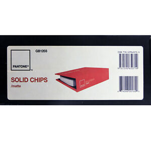 Pantone Matte Coated Chips Book Pms Solid Color Gb1203 Discontinued