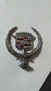 1985 1993 Chrome Cadillac Deville Hood Ornament Nice