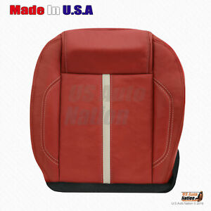 2010 2011 2012 2013 2014 Ford Mustang Gt Passenger Bottom Leather Seat Cover Red