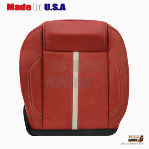 2010 2011 201 2013 2014 Ford Mustang Shelby Driver Bottom Leather Red Seat Cover