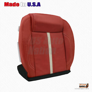 For 2012 2013 2014 Ford Mustang Gt Driver Bottom Synthetic Leather Cover In Red