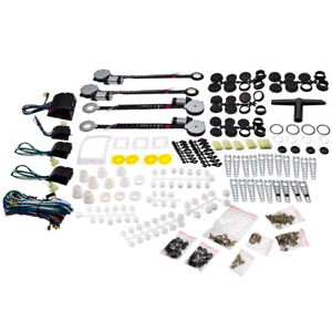 Universal 4 Door Electric Power Window Conversion Kit Roll Up Switches Car Truck
