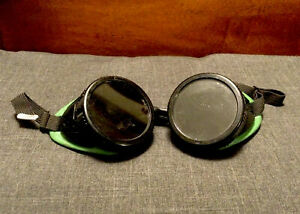 Pair Of Vintage Steampunk Welding Goggles