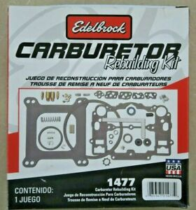 Edelbrock 1477 Master Rebuild Kit Performer Carburetor Series