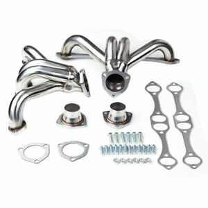 Small Block Sb V8 Engines 283 305 327 350 Fit Chevy Stainless Hugger Headers