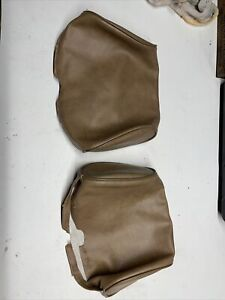 Mgb Headrest Covers 1 Pair Oval Shape Smooth Champagne Color 1977 1980