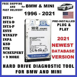 05 2021 Ista D p For Bmw Mini Diagnostic Hdd Tool Program Inpa Enet K dcan Icom