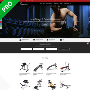 Professional Fitness Store Turnkey Dropship Website Ecommerce Business