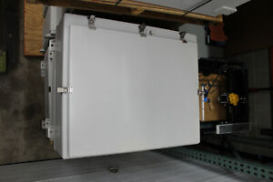 Fiberglass Enclosure With Painted Steel Back Panel 30 X 24 X 9 Internal Size