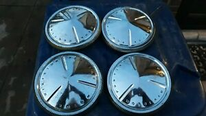1960 Pontiac Catalina Ventura Dog Dish Hubcaps Poverty Hub Caps