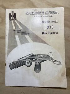 International 330 Disk Harrow Operator s Manual
