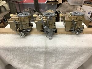 Chevy 348 Tripower Carbs Small Base And Front Fuel Inlets