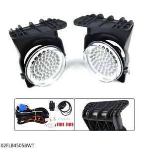 Full Led Fog Lights Lamps For 2003 2006 Gmc Sierra 1500 2500 3500 Pair New