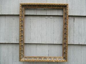 Nice Mid Century Modern Spanish Baroque Compo Wood Picture Frame Fits 20 X 16