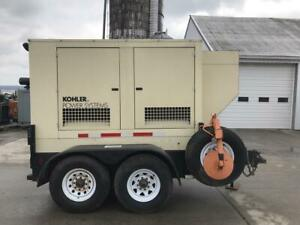 __60 Kw Kohler Portable Genset Sound Attenuated Base Fuel Tank Selectable
