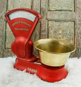 C1920 Toledo Scale Company Grocery Store Scale Weight Balance Avery Berkel Style