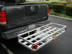 Heavy Duty Hitch Mount Cargo Carrier Rack Trailer Basket Luggage Holder