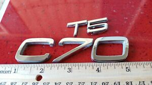 Genuine Used Volvo C70 Boot Badge Rear Emblem For Mk1 1997 2005 T5
