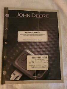 John Deere Technical Manual 300d 310d 315d Backhoe Loader Operation Test