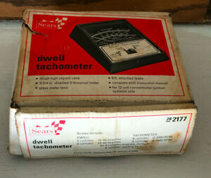 Vintage Sears Model 28 2177 Dwell Tachometer With Original Box And Manual