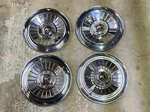 1957 Ford Fairlane Thunderbird Ranchero Hubcaps Wheel Covers 14 Inch Set Of 4