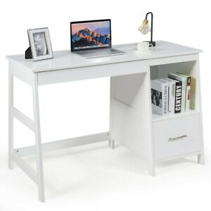 New Computer Desk Home Office Storage Drawers Workstation Small Space Wooden