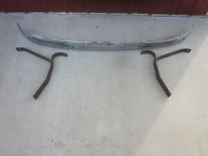 Original 1947 53 Chevy Gmc Pickup Truck Front Bumper With Brackets