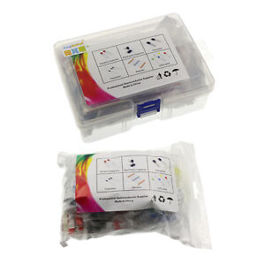 Led Electronic Components Diode Transistor Capacitor Resistor Kit 1490pcs