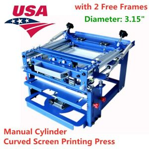 Us Stock manual Curved Silk Screen Printing Press Cylinder For Cup Mug