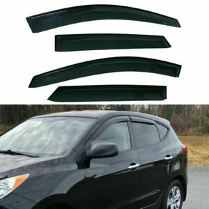 Smoke Window Sun Visor Vent 4pcs For Hyundai Tucson 2010 2011 2012 2013 2014