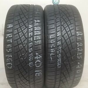 No Shipping Only Local Pick Up 2 Tires 225 40 18 Continental Extremecontact
