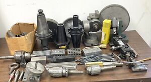 Large Lot Of Machinist Tools Grinding Fixtures Diamond Grinding Wheels