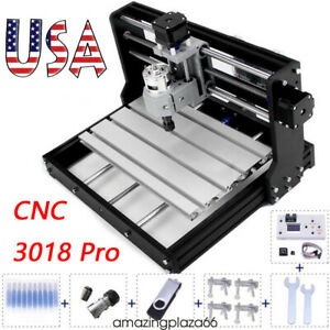 Cnc Router Mini Laser Engraver Diy Wood Milling Drill Carving Machine Kit
