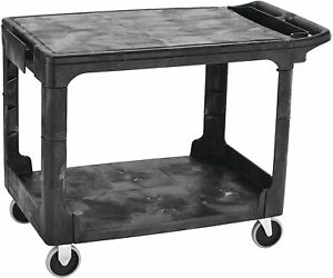 Rubbermaid Commercial Products 2 shelf Utility service Cart Fg452589bla