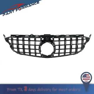 Gt R Style Grill Grille W Camera For Mercedes Benz W205 C205 A205 C43 Amg 2019