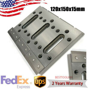 Wire Edm Fixture Board Stainless Jig Tool For Clamp And Level 120x150x15mm Usa