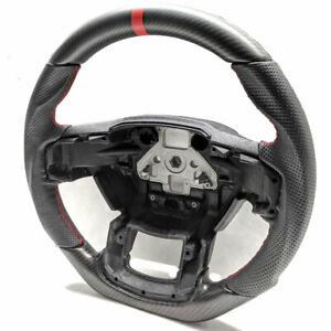 Performance Steering Wheel For 15 16 17 Ford F150 real Matte Carbon leather red