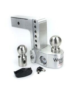 Weigh Safe Ws6 2 5 Adjustable 6 Drop Hitch Ball Mount W Tongue Weight Scale