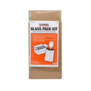 Glass Pack Kit 18 Foam Pouches 7 Dividers Fine Glassware Moving Packing 18 Cell